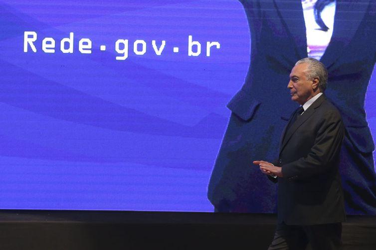 Presidente Michel Temer lança a Rede Nacional de Governo Digital - Valter Campanato/Agência Brasil