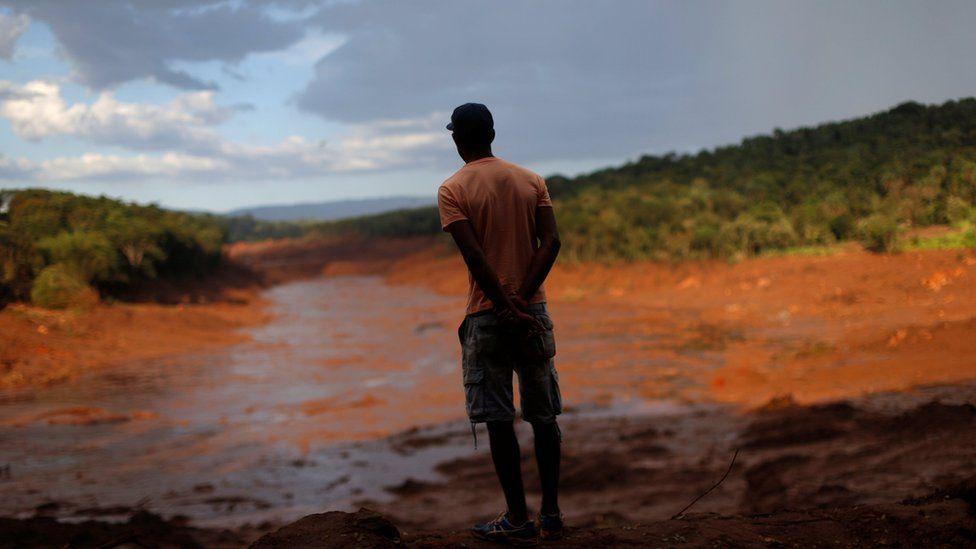 Lama da barragem que estourou em Brumadinho. Foto: Reuters