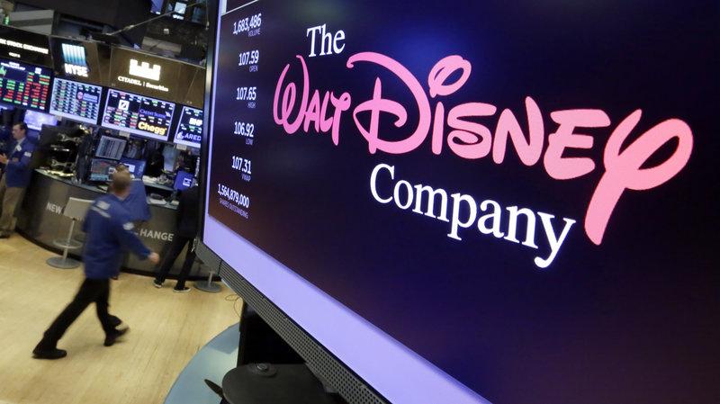Logo da Walt Disney em tela. Foto: Richard Drew/AP